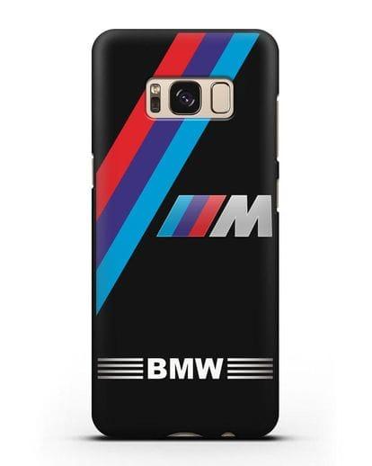 Чехол с логотипом BMW M Series силикон черный для Samsung Galaxy S8 Plus [SM-G955F]