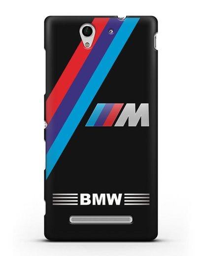 Чехол с логотипом BMW M Series силикон черный для Sony Xperia C3