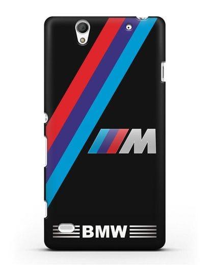 Чехол с логотипом BMW M Series силикон черный для Sony Xperia C4