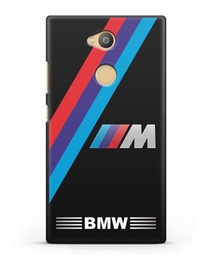 Чехол с логотипом BMW M Series силикон черный для Sony Xperia L2