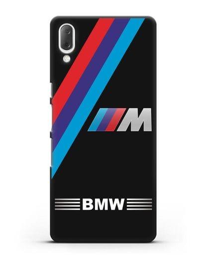 Чехол с логотипом BMW M Series силикон черный для Sony Xperia L3