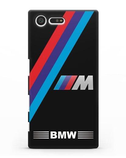 Чехол с логотипом BMW M Series силикон черный для Sony Xperia X Compact