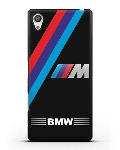 Чехол с логотипом BMW M Series силикон черный для Sony Xperia X Performance