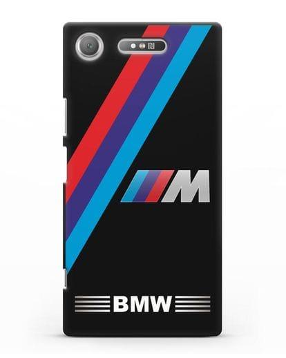 Чехол с логотипом BMW M Series силикон черный для Sony Xperia XZ1