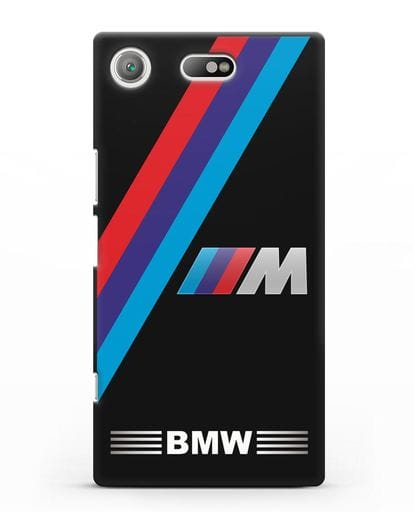 Чехол с логотипом BMW M Series силикон черный для Sony Xperia XZ1 Compact