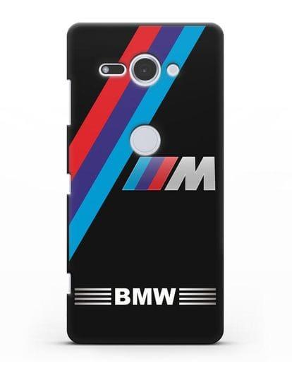Чехол с логотипом BMW M Series силикон черный для Sony Xperia XZ2 Compact