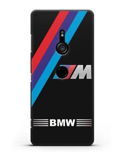 Чехол с логотипом BMW M Series силикон черный для Sony Xperia XZ3