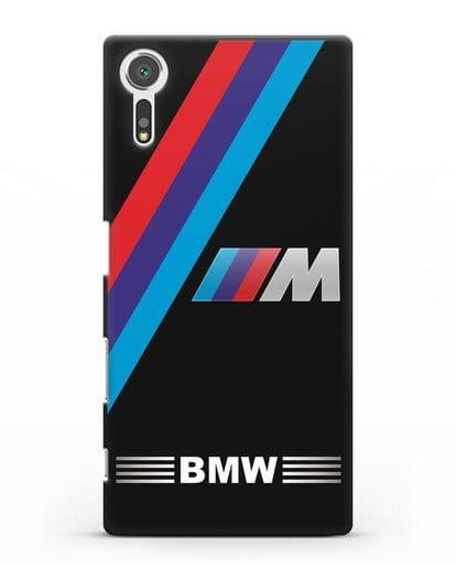 Чехол с логотипом BMW M Series силикон черный для Sony Xperia XZs