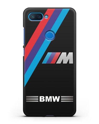 Чехол с логотипом BMW M Series силикон черный для Xiaomi Mi 8 Lite