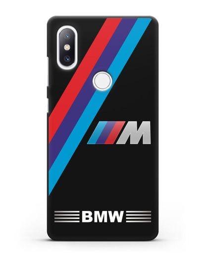 Чехол с логотипом BMW M Series силикон черный для Xiaomi Mi Mix 2S