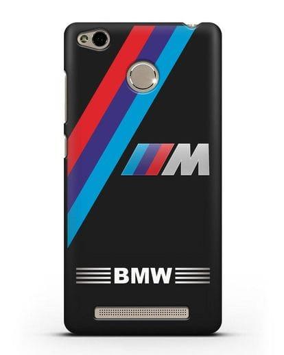 Чехол с логотипом BMW M Series силикон черный для Xiaomi Redmi 3 Pro