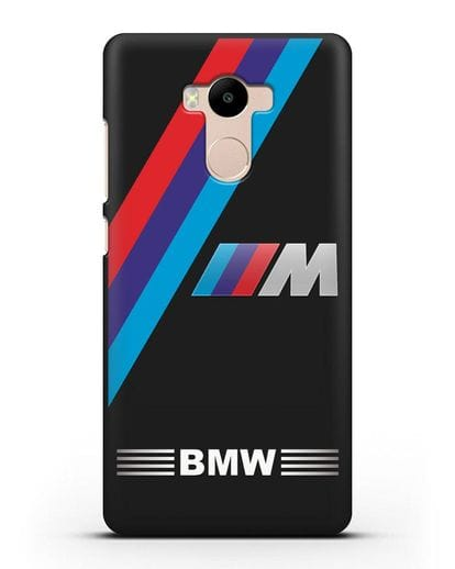 Чехол с логотипом BMW M Series силикон черный для Xiaomi Redmi 4 Pro