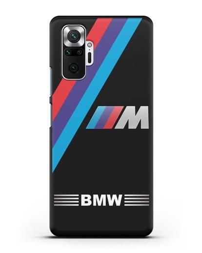 Чехол с логотипом BMW M Series силикон черный для Xiaomi Redmi Note 10 Pro