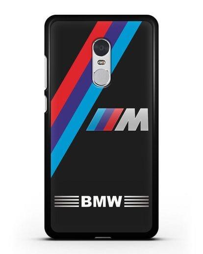 Чехол с логотипом BMW M Series силикон черный для Xiaomi Redmi Note 4X