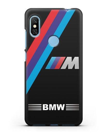 Чехол с логотипом BMW M Series силикон черный для Xiaomi Redmi Note 6 Pro