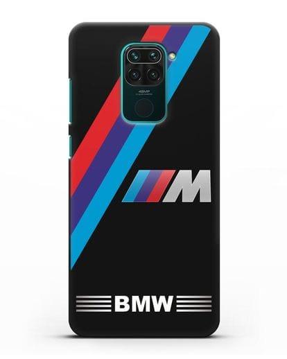 Чехол с логотипом BMW M Series силикон черный для Xiaomi Redmi Note 9