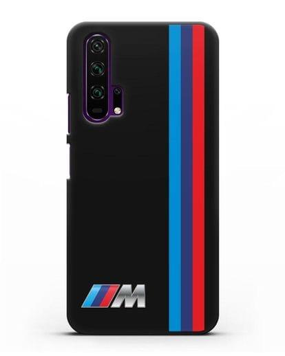 Чехол BMW M Perfomance силикон черный для Honor 20 Pro