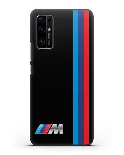 Чехол BMW M Perfomance силикон черный для Honor 30 Pro