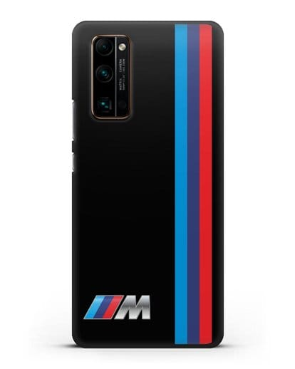 Чехол BMW M Perfomance силикон черный для Honor 30 Pro Plus