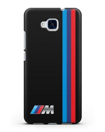 Чехол BMW M Perfomance силикон черный для Honor 5C