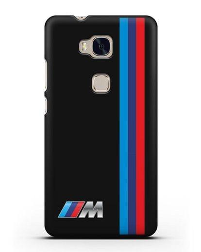 Чехол BMW M Perfomance силикон черный для Honor 5X