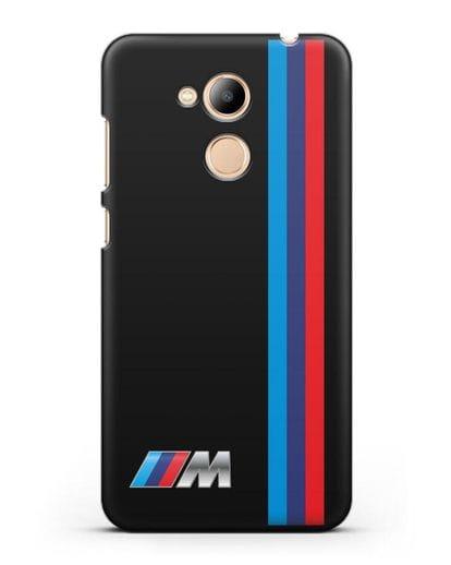 Чехол BMW M Perfomance силикон черный для Honor 6C Pro