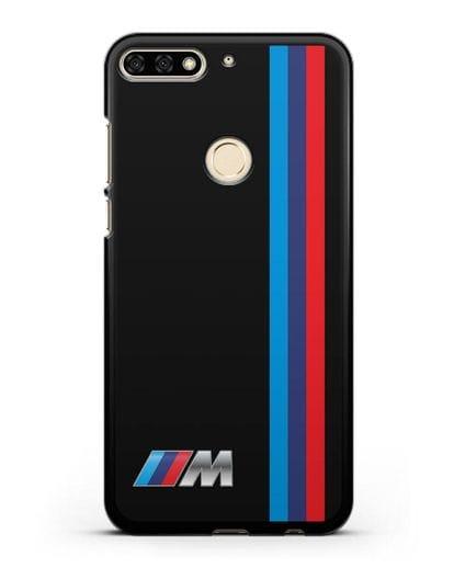 Чехол BMW M Perfomance силикон черный для Honor 7C