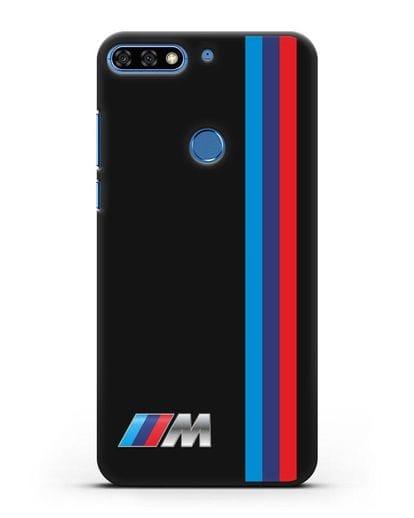Чехол BMW M Perfomance силикон черный для Honor 7C Pro