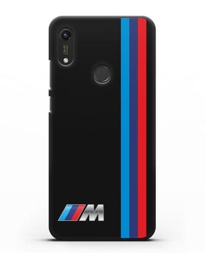 Чехол BMW M Perfomance силикон черный для Honor 8A Prime