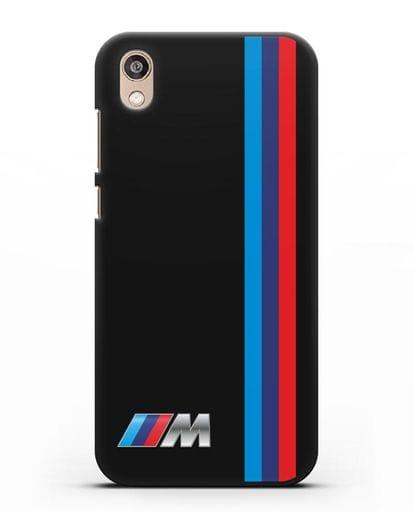 Чехол BMW M Perfomance силикон черный для Honor 8S Prime