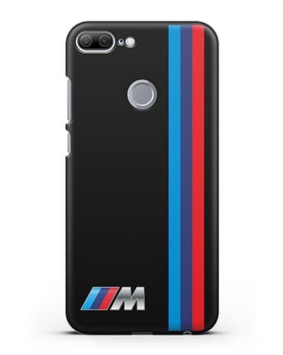 Чехол BMW M Perfomance силикон черный для Honor 9 Lite