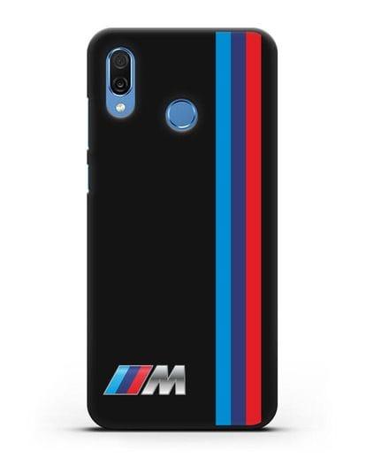 Чехол BMW M Perfomance силикон черный для Honor Play