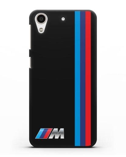 Чехол BMW M Perfomance силикон черный для HTC Desire 728