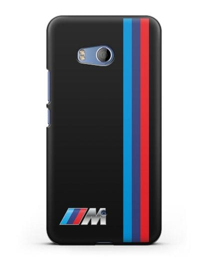 Чехол BMW M Perfomance силикон черный для HTC U11