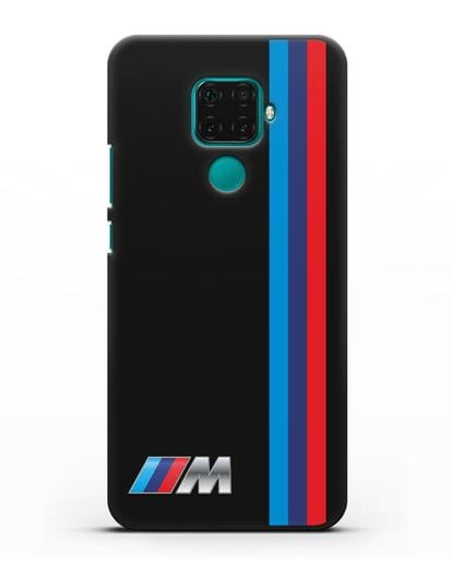 Чехол BMW M Perfomance силикон черный для Huawei Mate 30 Lite
