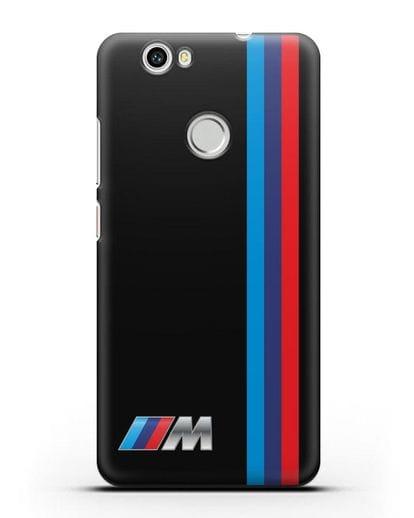 Чехол BMW M Perfomance силикон черный для Huawei Nova