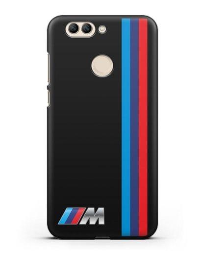 Чехол BMW M Perfomance силикон черный для Huawei Nova 2 Plus