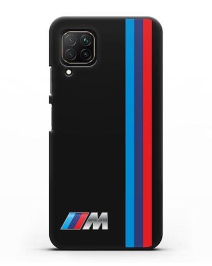 Чехол BMW M Perfomance силикон черный для Huawei Nova 7i