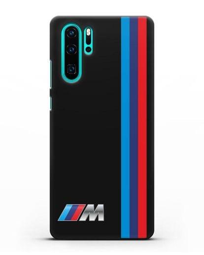 Чехол BMW M Perfomance силикон черный для Huawei P30 Pro
