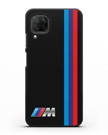 Чехол BMW M Perfomance силикон черный для Huawei P40 lite