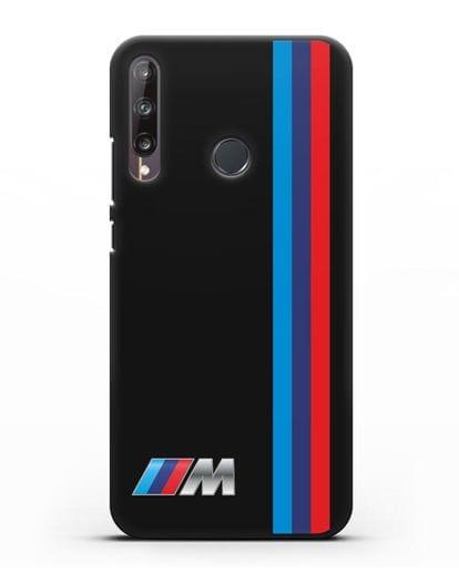 Чехол BMW M Perfomance силикон черный для Huawei P40 lite E