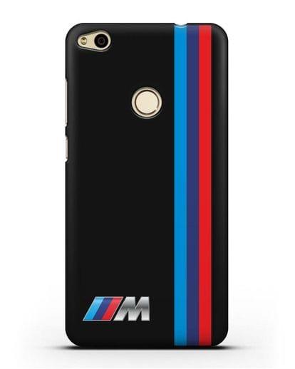 Чехол BMW M Perfomance силикон черный для Huawei P8 Lite 2017