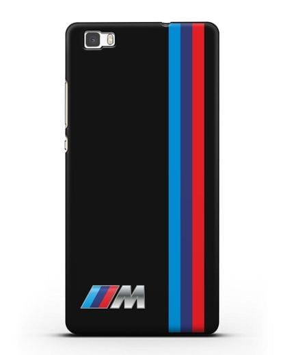 Чехол BMW M Perfomance силикон черный для Huawei P8 Lite