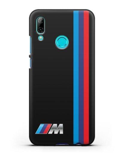 Чехол BMW M Perfomance силикон черный для Huawei P Smart 2019