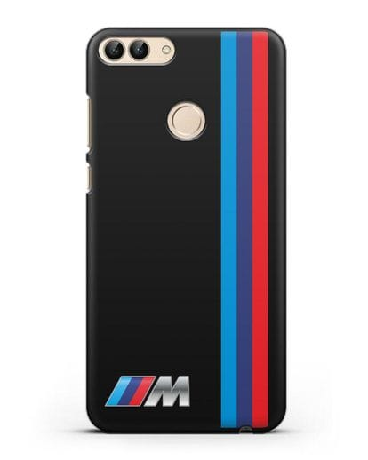 Чехол BMW M Perfomance силикон черный для Huawei P Smart