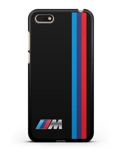 Чехол BMW M Perfomance силикон черный для Huawei Y5 Prime 2018