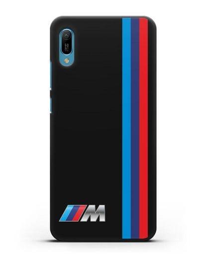 Чехол BMW M Perfomance силикон черный для Huawei Y6 2019