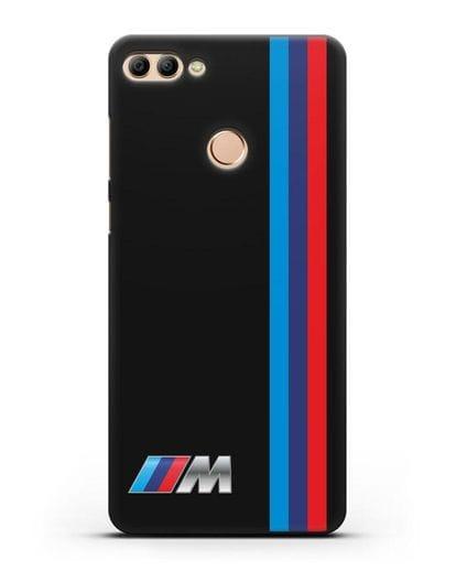 Чехол BMW M Perfomance силикон черный для Huawei Y9 2018
