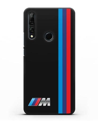 Чехол BMW M Perfomance силикон черный для Huawei Y9 Prime 2019