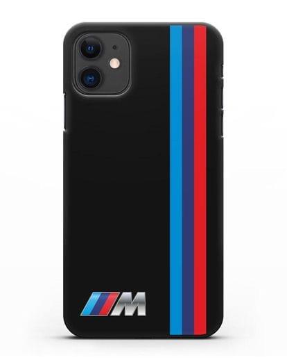 Чехол BMW M Perfomance силикон черный для iPhone 11